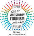 Whitsunday Tourism Award Silver winner 2017 Unique Accommodation