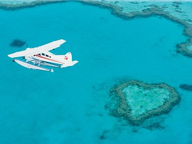 Seaplane over Heart Reef