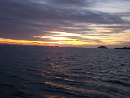 Sunset from Stonehaven Anchorage