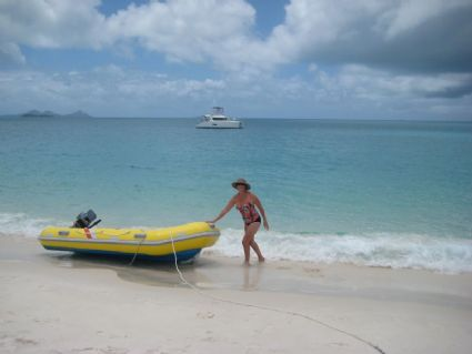 Enjoying Whitehaven Beach