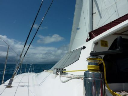 Sailing to Cateran Bay