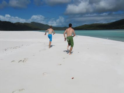 Cool white sand at Hill Inlet