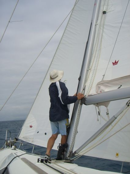 Checking the Head Sail