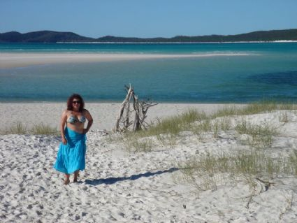 White sands of Whitehaven Beach