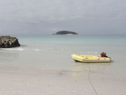 Looking towards Esk Island from Betty's Beach