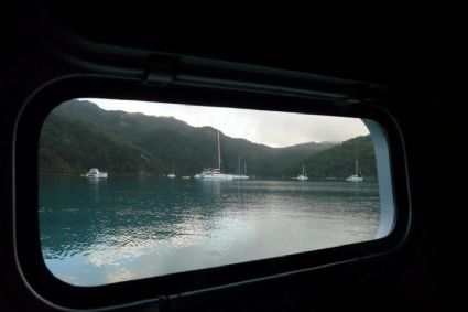Morning view from our porthole