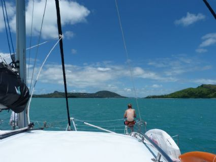 Approaching to Hayman Island