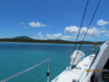 Approaching Whitehaven Beach