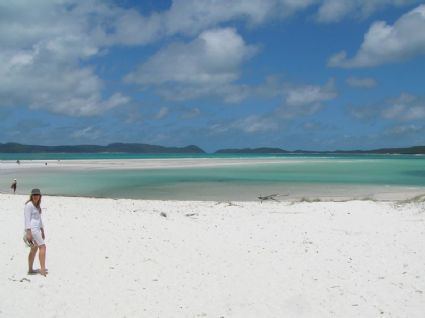 the view of Whitehaven Beach from Hill Inlet