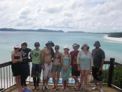 the nine of us at Hills Inlet look out