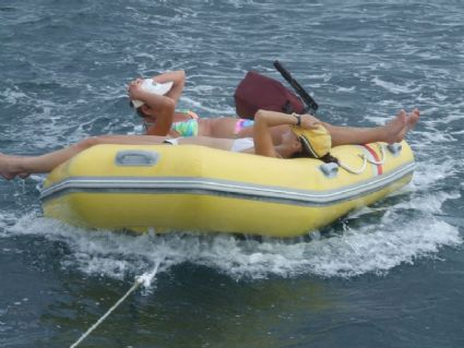 dingy fun in the sun