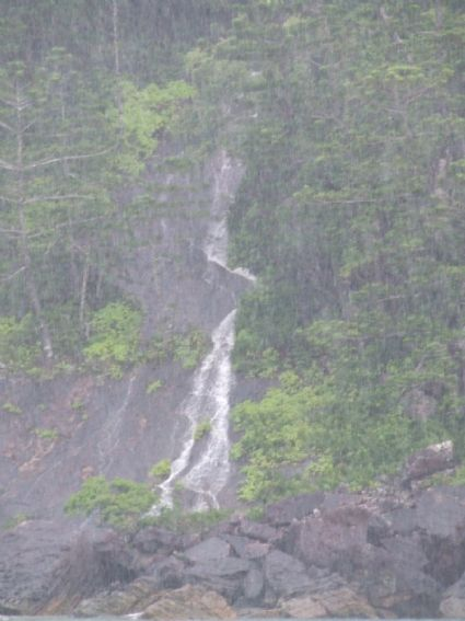 torrential runoff forms waterfall back of whitehaven