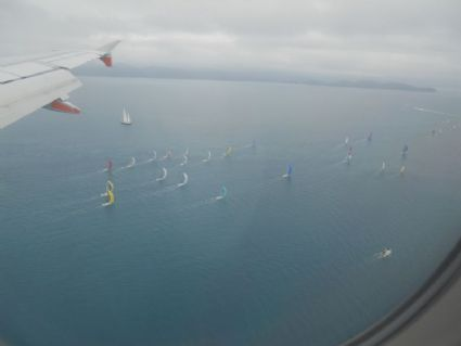 Racing yachts flying along by Alison Hopewell