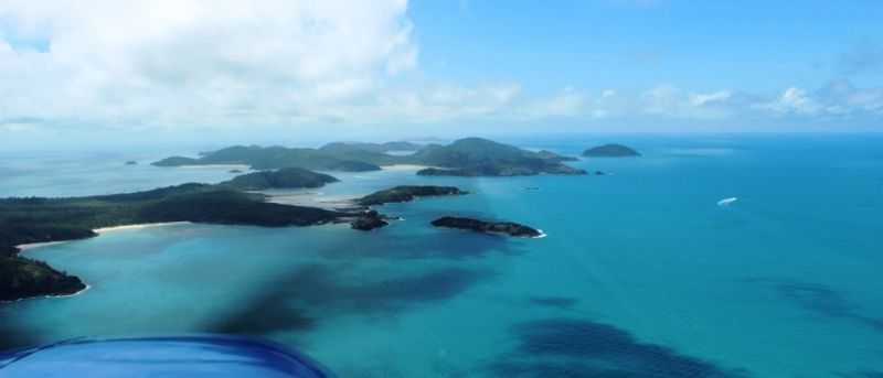 Enjoy a birds eye view of the Whitsunday Islands.