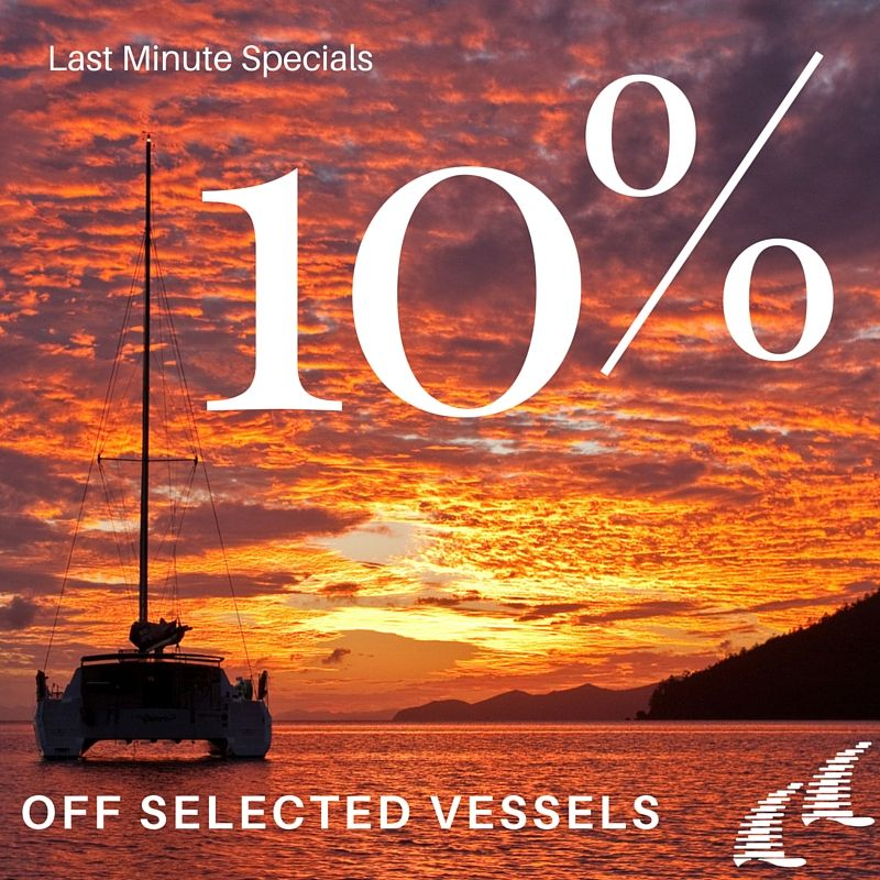 Book and Save 10% off Selected Vessels