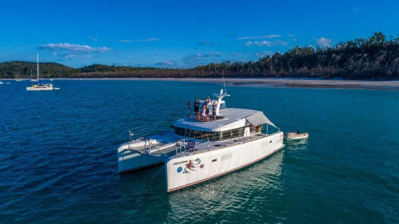 Cumberland Charter Yachts - Whitsunday Dreaming at anchor