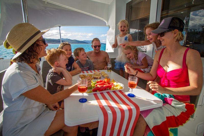 Meals on board - Cumberland Charter Yachts Whitsundays