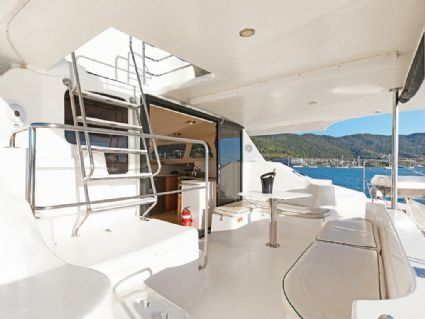 Charisma - Lightwave 38 Power Catamaran, Saloon and Galley, Cumberland Charter Yachts Whitsundays