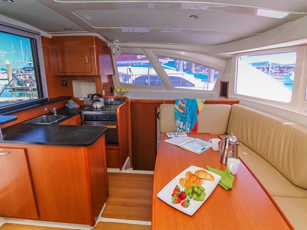 Leopard 38 - Saloon and galley
