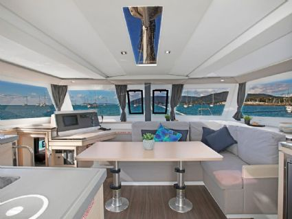 Laurenza - Lucia 40, Galley & Saloon, Cumberland Charter Yachts Whitsundays