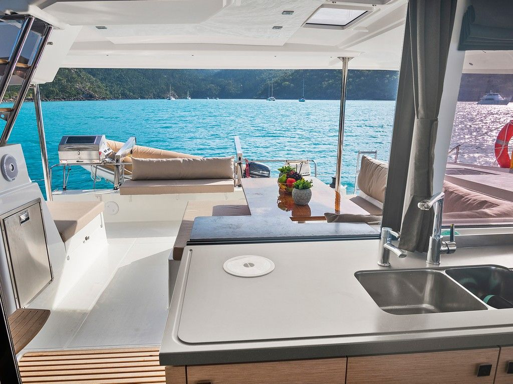 Helia 44 - Galley and aft deck
